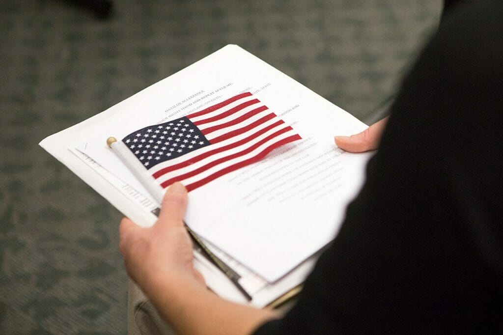 This article is about the naturalization test. The picture is related to the content.